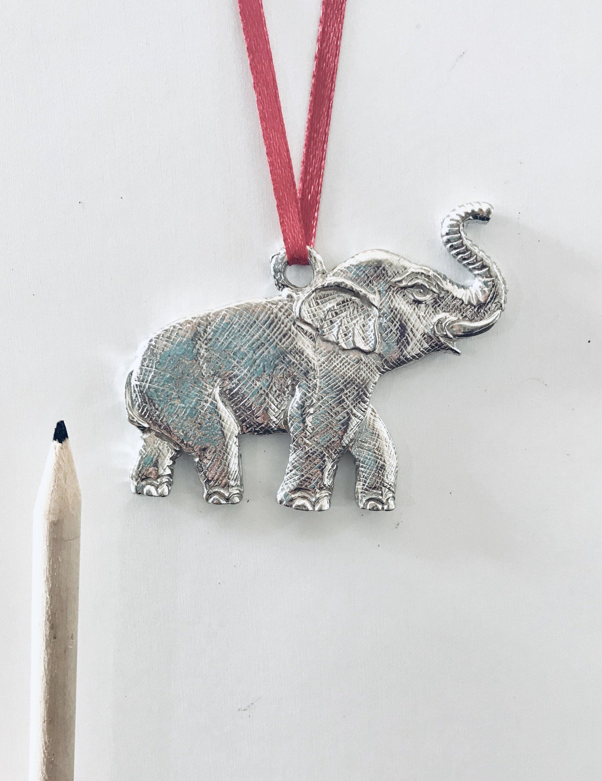 Elephant Zoo Jungle Wild Animal Keepsake Holiday Christmas Ornament - House of Morgan Pewter
