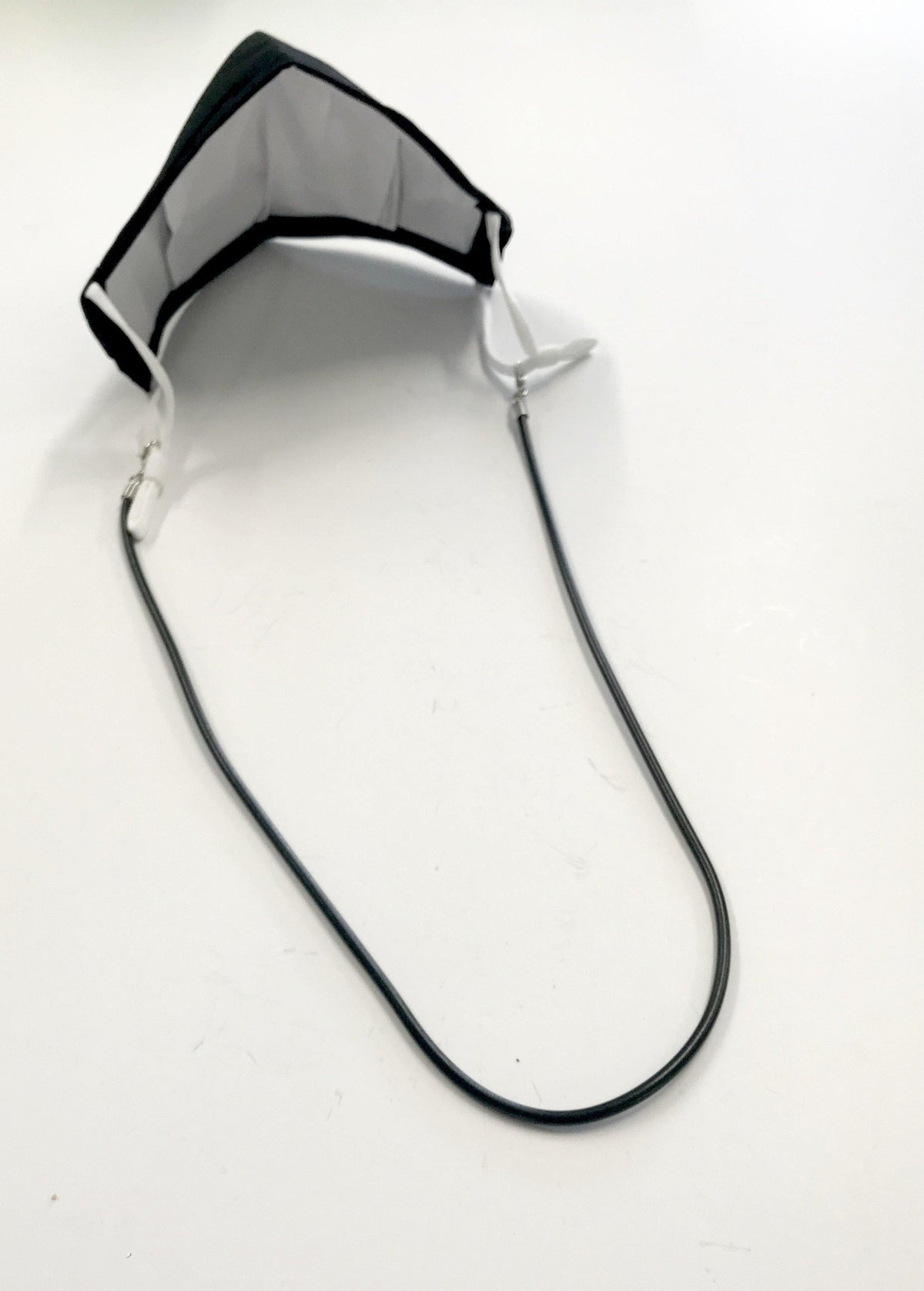 "Face Mask Black Cord 18"" Necklace Lanyard, Face Mask Kid Accessory, Teacher Face Mask Attachment Lanyard Gift"
