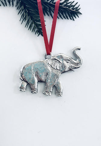 Elephant Zoo Jungle Wild Animal Keepsake Holiday Christmas Ornament