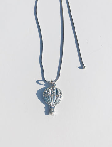 Hot Air Balloon Jewelry Accessories Pendant Charm Necklace Pewter