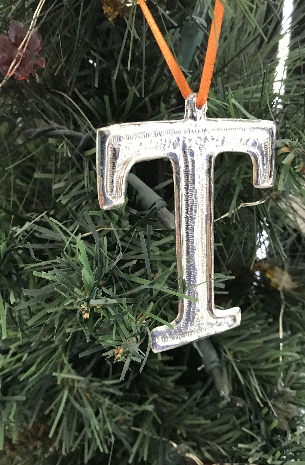 Handmade Tennessee TN State Christmas Ornament Pewter - House of Morgan Pewter