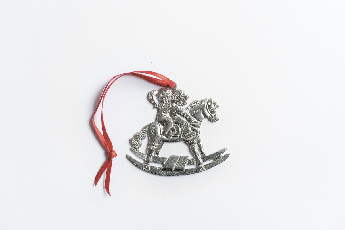 Handmade Boy Girl Rocking Horse Christmas Ornament Gift