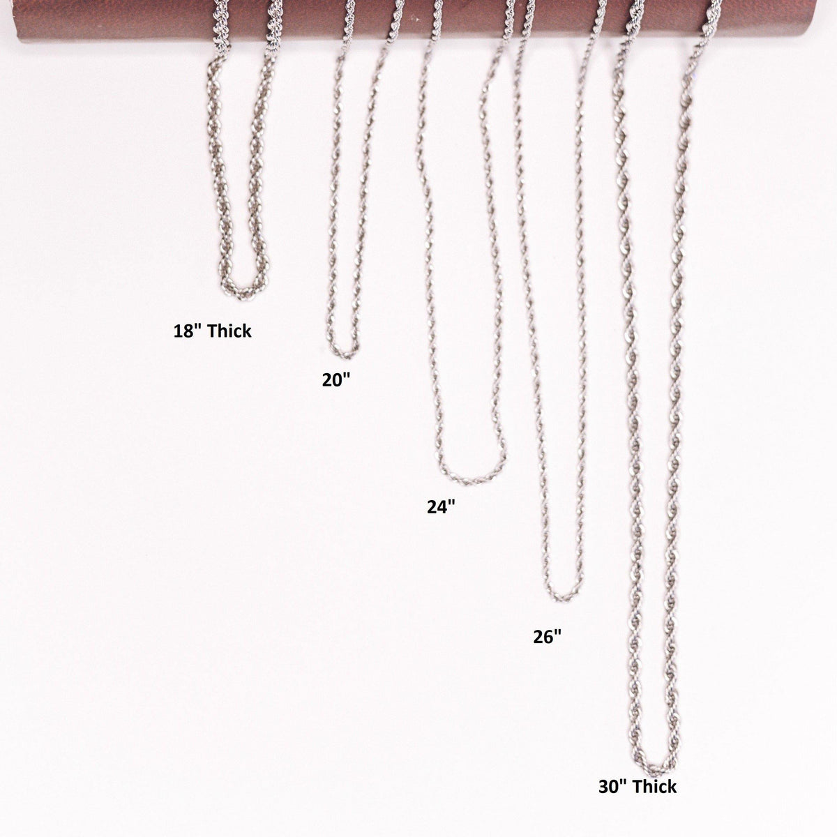 wide range of rope necklaces