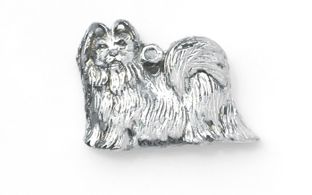 Handmade Pewter Dog Breed Charm Pendant Necklace Jewelry Womens Accessory