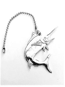 Fine Pewter Accent Ceiling Fan Light Pull Marlin Fish - House of Morgan Pewter