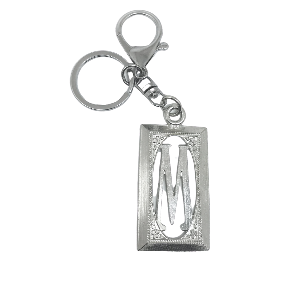 usa handmade silver rectangle initial for wholesale weddings