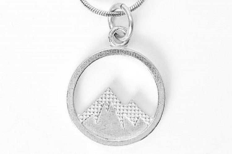 handmade mountain necklace
