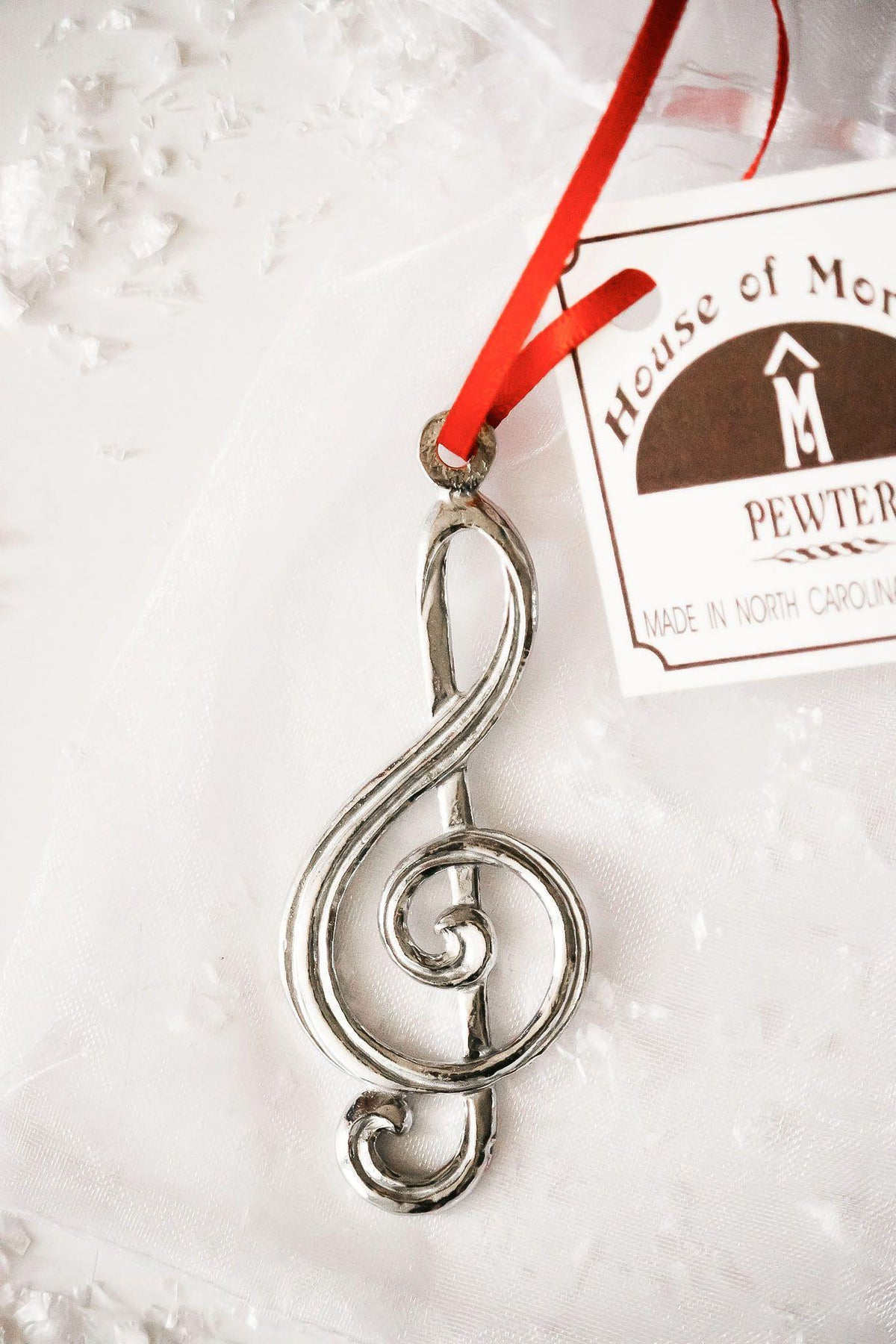 Handmade Pewter Music Instrument Music Note Christmas Ornament Gift