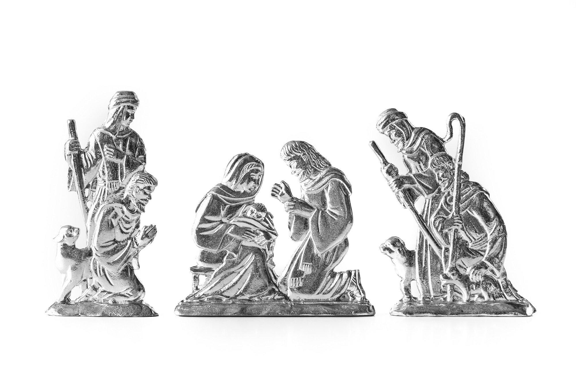 Handmade nativity holiday figurine set