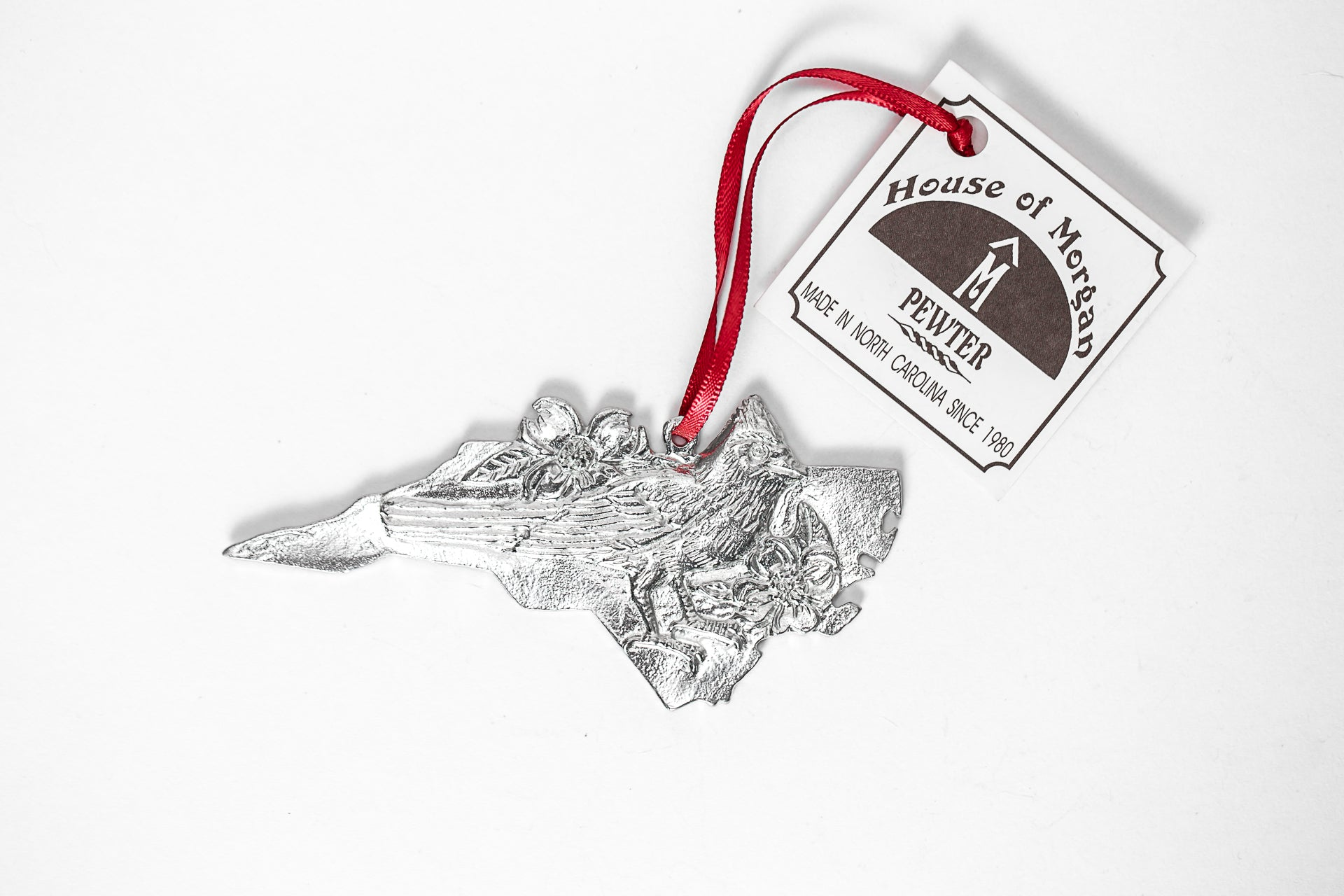 handmade nc state symbols silver gift