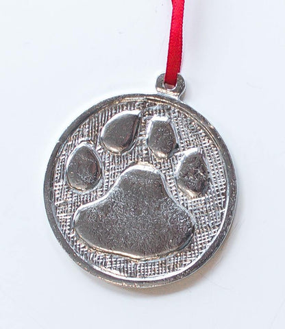 872 Pet Dog Paw Memorial Ornament Pewter - House of Morgan Pewter