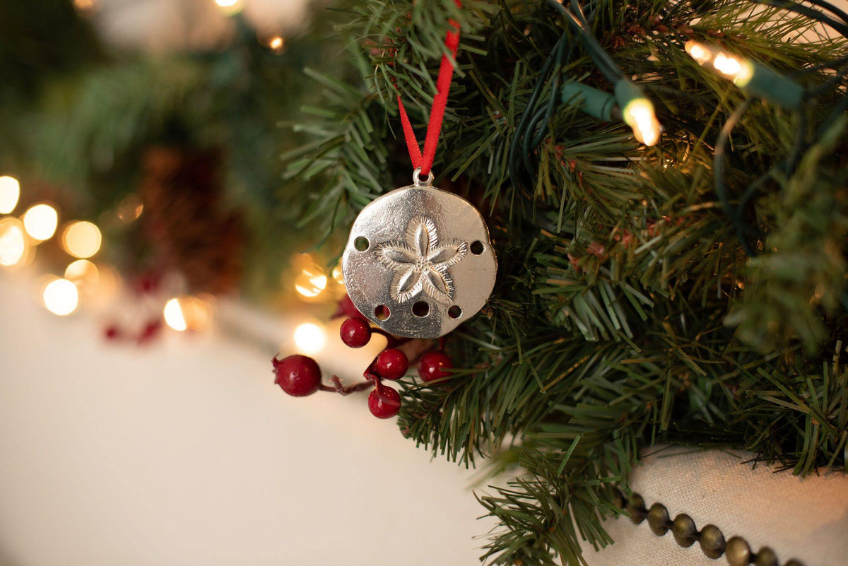 handmade sand dollar christmas ornament