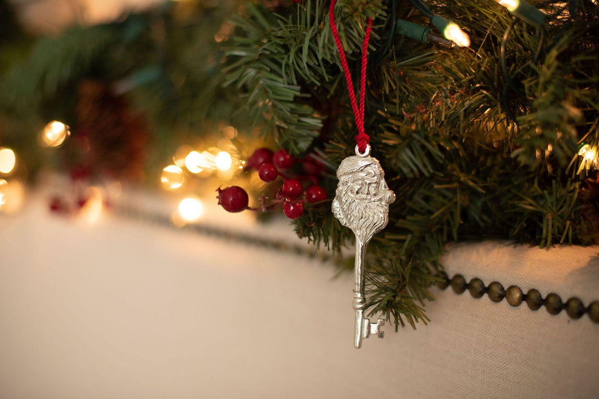 Handmade Magical Santa Claus Key Christmas Eve Tradition Christmas Ornament - House of Morgan Pewter
