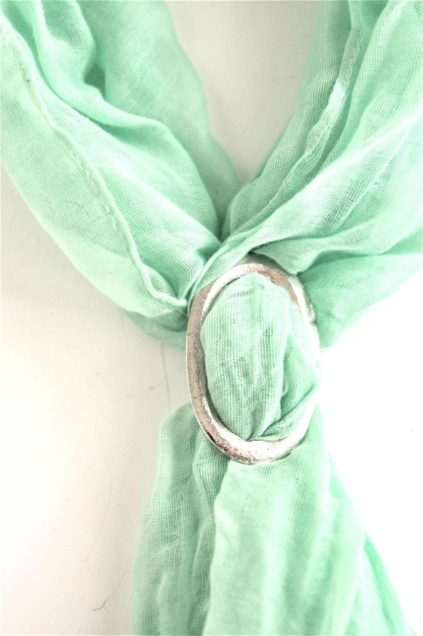 Hand Cast Fine Pewter Small Scarf Ring Jewelry Winter Accessories - House of Morgan Pewter