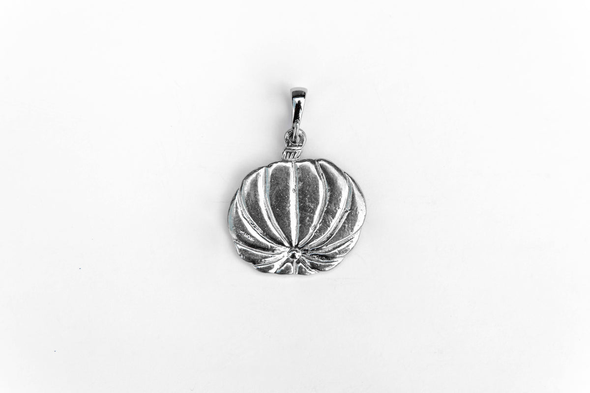 Handmade Small Pumpkin Fall Halloween Thanksgiving Jewelry Accessories Pendant Charm Necklace Pewter