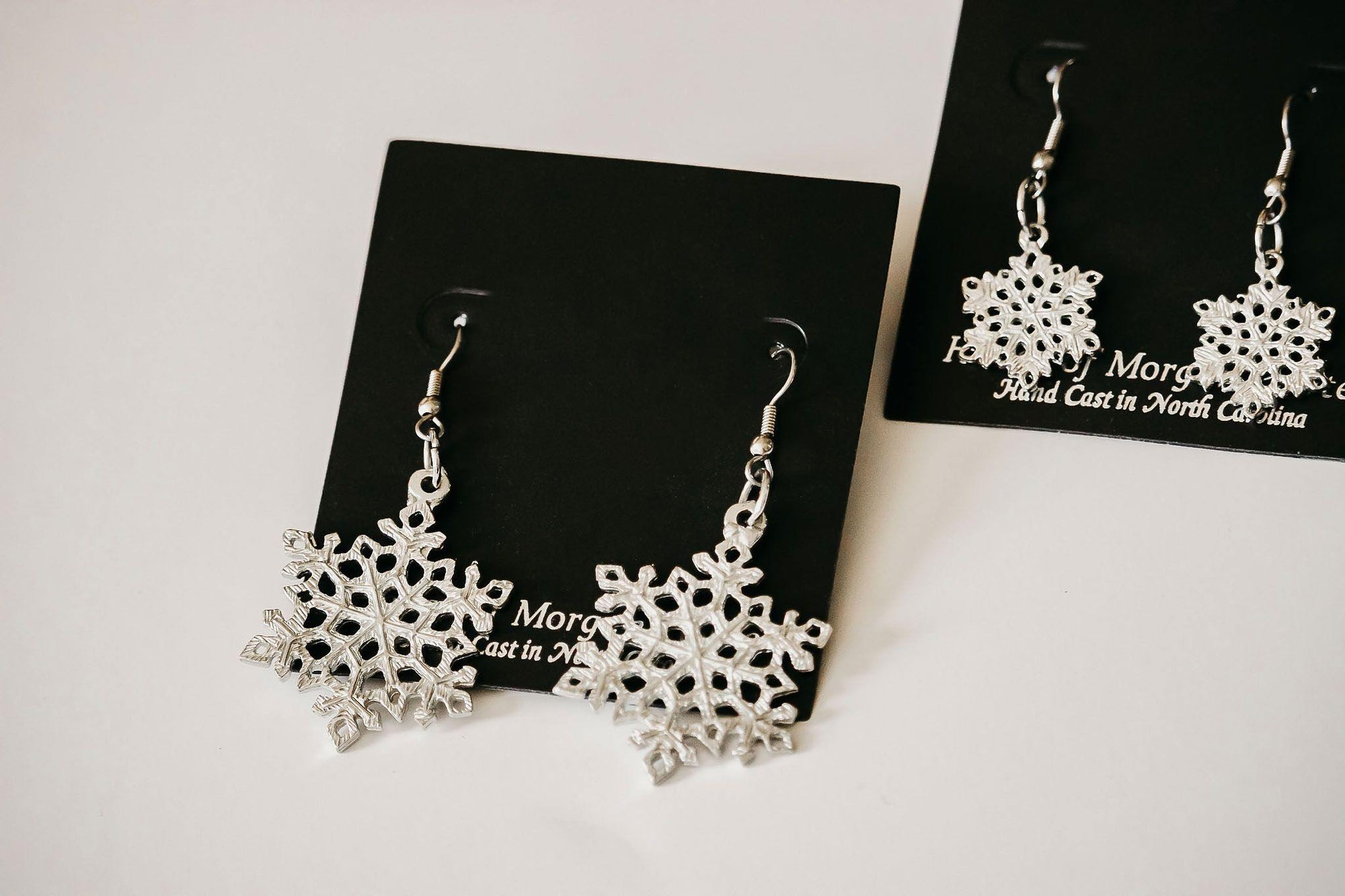 handmade snowflake earrings
