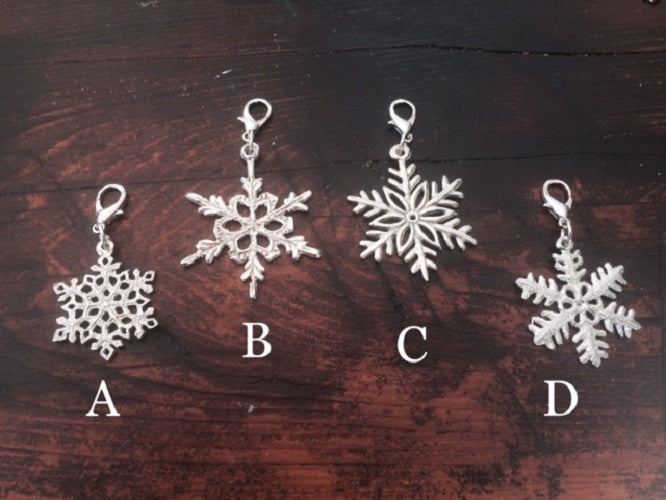 Pewter Lobster Clasp Key Chain Charm Snowflake D - House of Morgan Pewter