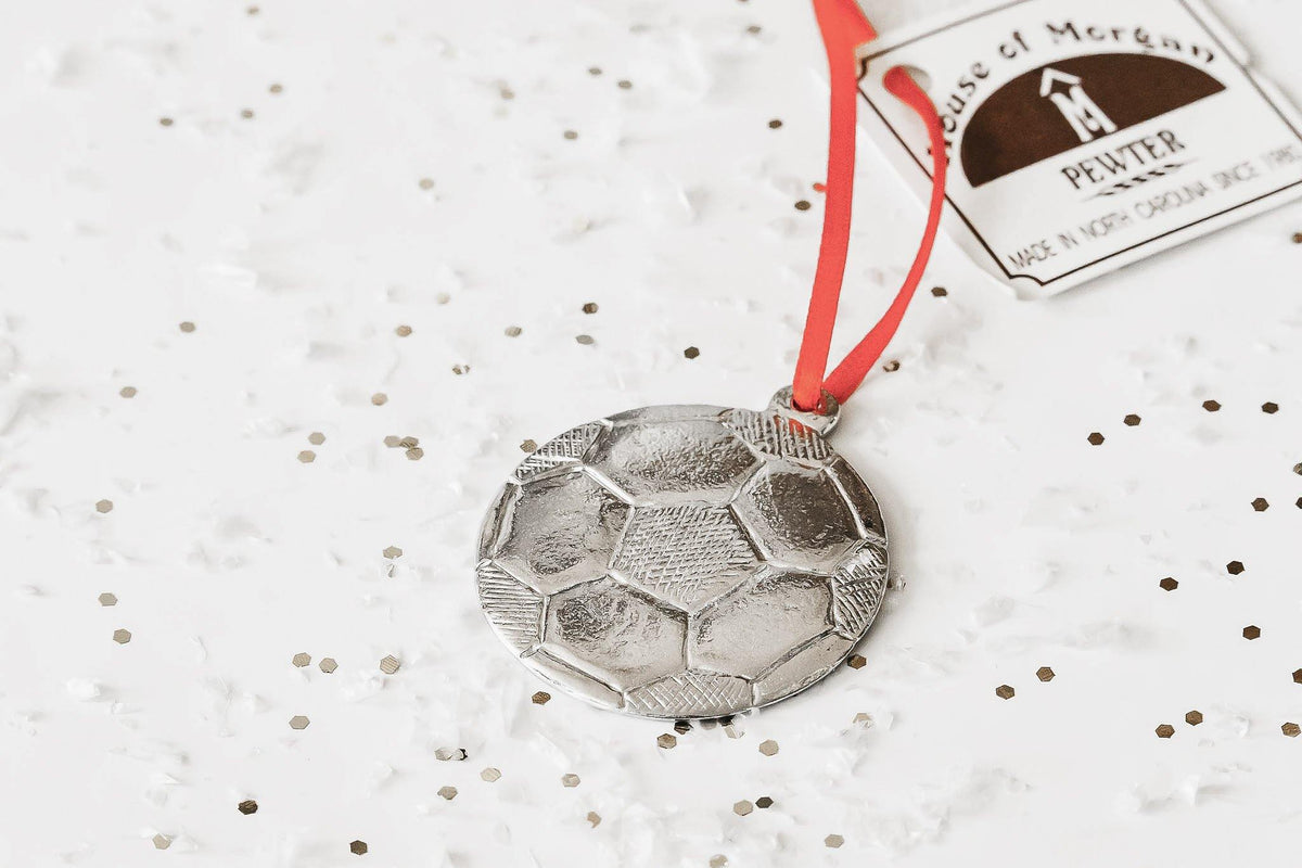 Handmade Soccer Player Coach Keepsake Christmas Ornament