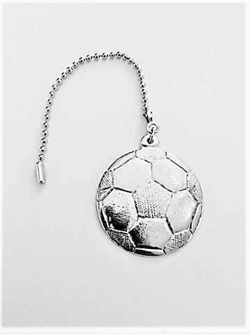 Fine Pewter Accent Ceiling Fan Light Pull Soccer Ball - House of Morgan Pewter
