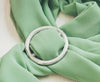 Handmade Round Pewter Tree Branch Scarf Ring, Womens Scarves Pins and Clips