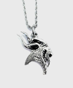 "Pewter Viking Pirate Pendant with a 24"" Stainless Steel Rope Chain Necklace - House of Morgan Pewter"