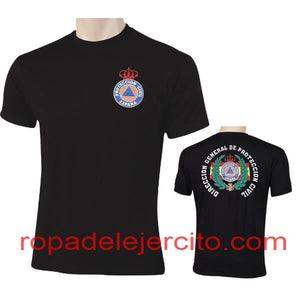"Camiseta protección civil dgpc laurel ""negra"""