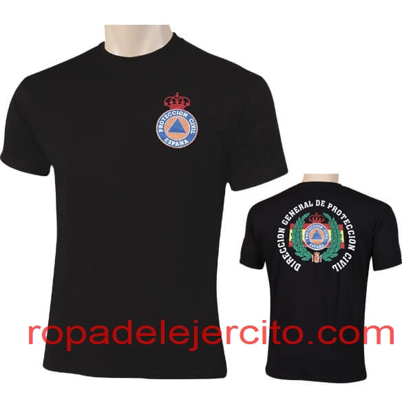 Camiseta protección civil dgpc laurel