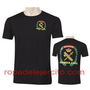 "Camiseta guardia civil laurel todo por la patria ""negra"""