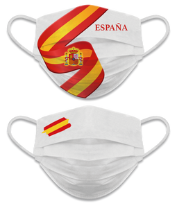 Mascarilla reversible Nivel 3 España - Blanco