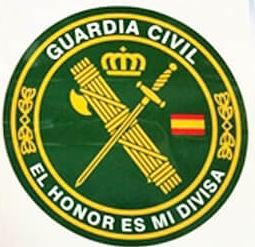 Pegatina guardia civil honor redonda gr.plana