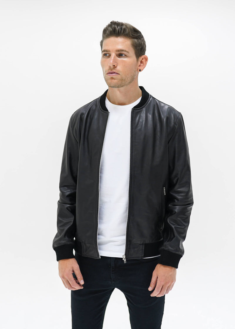 Victory Leather Bomber Jacket - Mens