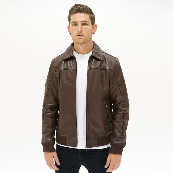 Viceroy Collared Bomber - Brown - CAMOKAZI