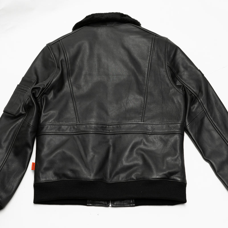 Vulcan Leather Aviator Flight Jacket - CAMOKAZI