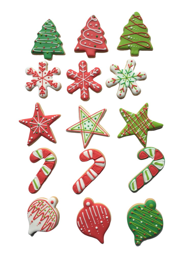 Edible Cookie Christmas Tree Decorations