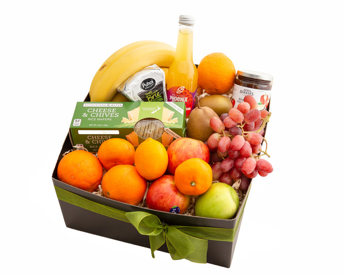 A fabulous fresh gift hamper that is great for hospital, just because, get well, pick me up and thinking of you.