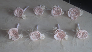 Alternative Keepsake Buttonholes, Pinned and Wrist Corsages