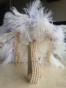 1920's inspired purple and Ivory keepsake alternative bridal bouquet