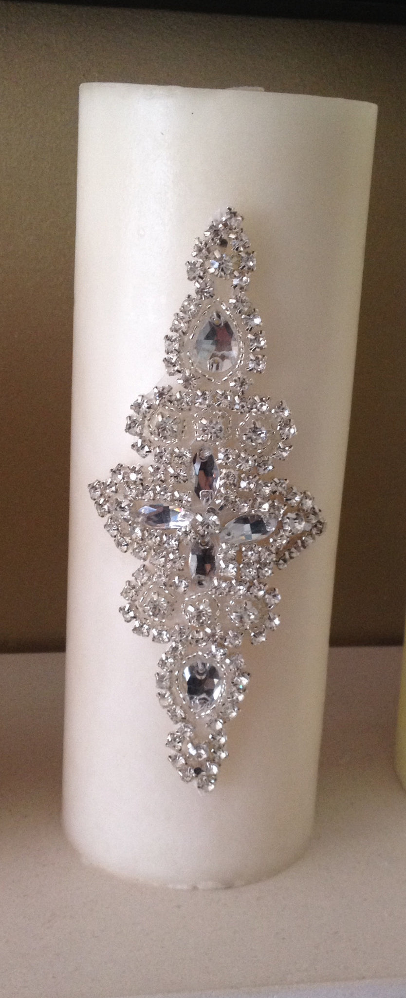 Church, Diamante Sparkle Pillar Candle