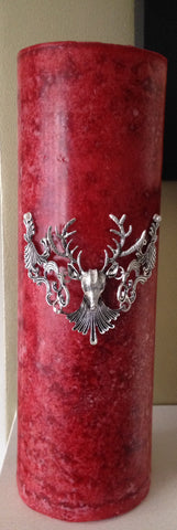 Stags Head Embellished Candle