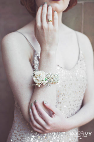 Elegant Wedding Wrist Corsage