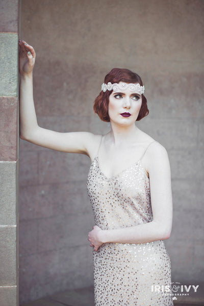 1920's inspired bridal hair accessory