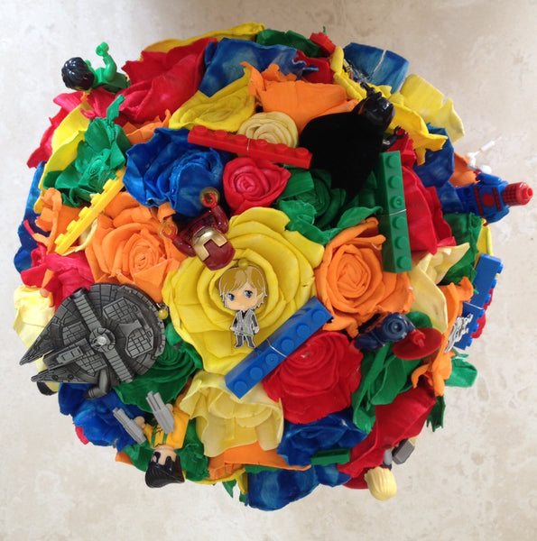 Lego, Super Hero and Star Wars inspired keepsake bouquet