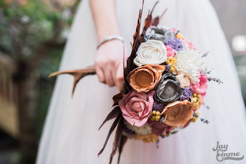 Woodland/Hunting/Outdoor Bridal Alternative Keepsake Bouquet