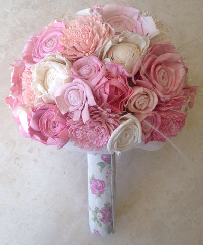Soft summer pink alternative keepsake bouquet