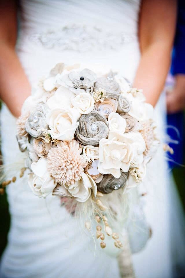 vintage inspired musical themed keepsake alternative bouquet