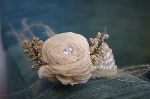 vintage inspired musical themed keepsake alternative corsage