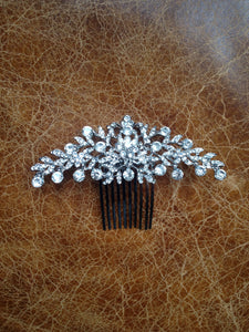 Bridal crystal hair slide/comb
