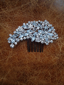 Diamanté/Crystal spray bridal hair slide/comb
