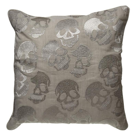 SKULLS SQUARE CUSHION W/ FIBRE FILL
