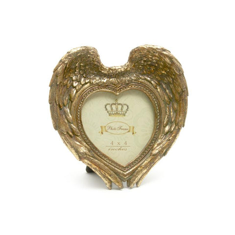 GOLD HEART PHOTO FRAME